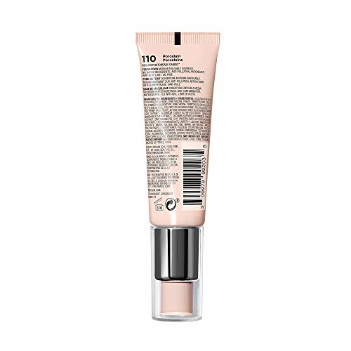Revlon PhotoReady Candid Natural Finish Foundation, with Anti-Pollution, Antioxidant, Anti-Blue Light Ingredients, without Parabens, Pthalates and Fragrances; Porcelain.75 Fluid Oz