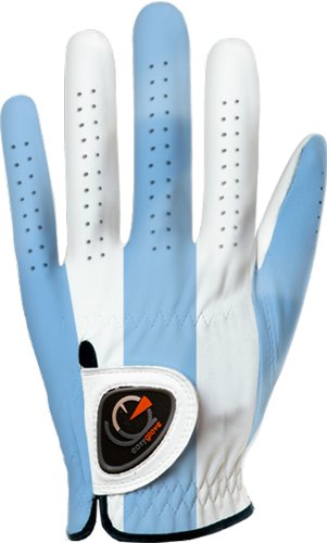 easyglove CLASSIC_BLUE-LARGE Men's Golf Glove (White), X-Large, Worn on Left Hand