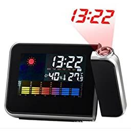 Digital LED Light Weather Projection Clock with Alarm and Snooze Function