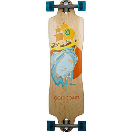 Gold Coast The Trade Winds Pintail Complete Longboard One Color, 36in Long X 9in Wide (Skateboard Gold Coast)
