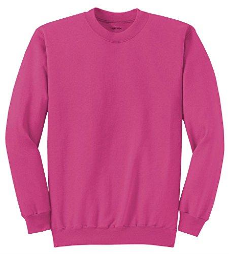 Joe's USA Youth Soft and Cozy Crewneck Sweatshirt,M-Sangria