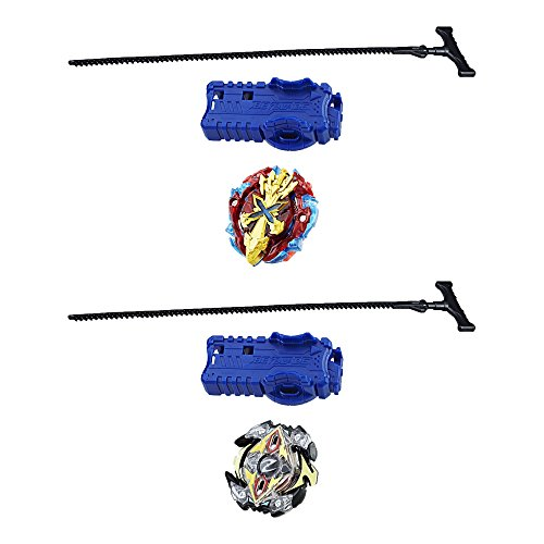 Beyblade Burst 2-Pack Value Starter Pack Xcalius X2 and Zeutron Z2 (Beyblade Metal Fury Legendary Bladers 3 Pack)