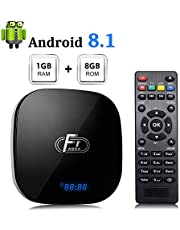 Sidiwen Android 8.1 TV Box 1GB RAM 8GB ROM Amlogic S905W Quad-Core Cortex-A53 CPU 2.4G WIFI Ethernet Support 3D 4K H.265 Smart Media Player