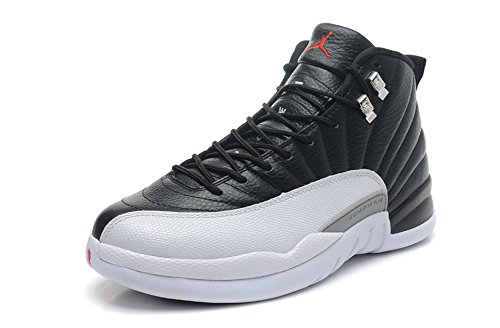 Air Jordan 12 generation of black and white silver clasp