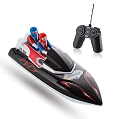Top Race Remote Control Boat For Beginners, My First Little RC Boat for Kids. Nothing too complicated simply insert 2 AA batteries and place it in any pool of water, Goes forward backwards right and left, Safe for kids of ages 3+ with a speed...