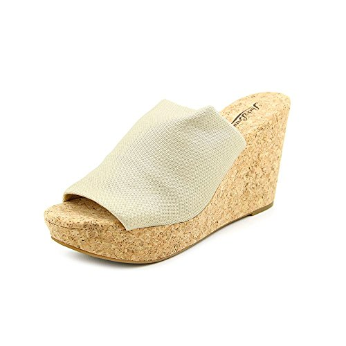 Lucky Brand Marilynn Womens Size 11 Gold Textile Wedge Sandals Shoes