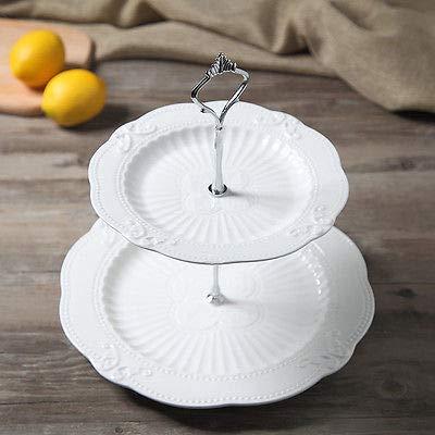 FidgetFidget Handle Fitting Hardware 2/3 Tier Cake Plate Stand Crown Rod Plate Wedding Finest by FidgetFidget (Image #6)