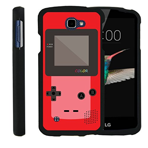MINITURTLE Case Compatible w/ [LG K4 Case, LG Optimus Zone 3 Case, LG Spree, LG Rebel Case][Snap Shell] Hard Plastic Slim Fitted Snap on case w/Unique Designs Red Gameboy ()