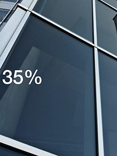 BDF F335 Window Film Premium Heat Control and Energy Saving, Black (Medium) - 36in X 12ft