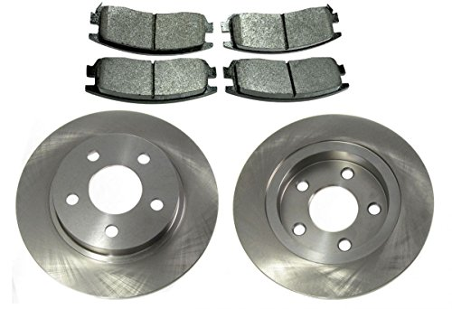 Rear Brake Pad & Rotor Kit for Escalade Bonneville LeSabre Park Ave ()