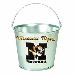 NCAA Missouri Tigers 5-Quart Galvanized Pail