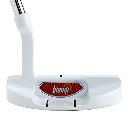 Bionik 105 Nano White Golf Putter Right Handed Semi Mallet Style with Alignment Line Up Hand Tool 33 Inches Petite Lady's Perfect for Lining up Your Putts by Bionik (Image #4)
