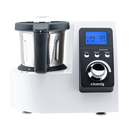 H.Koenig HKM1032 Küchenmaschine, 1300 W Kochleistung, Easy Pad Control System