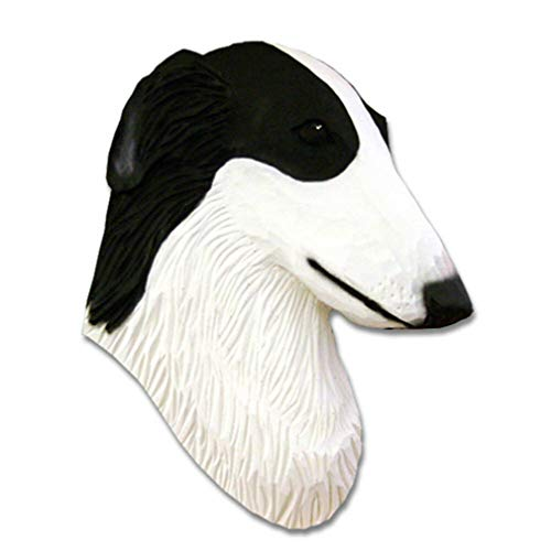 Ky & Co YesKela Borzoi Head Plaque Figurine Bi