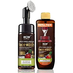 WOW Skin Science Apple Cider Vinegar Foaming Face Wash Save Earth Combo Pack- Consist of Foaming Face Wash with Built-In…