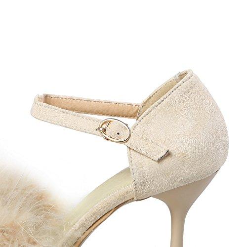 Sandales Compensées Beige ASL05094 BalaMasa Femme EU Abricot 5 36 BUOqn5w7