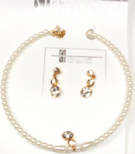 one-strand-ivory-pearl-choker-necklace-with-crystal-pendant-earrings