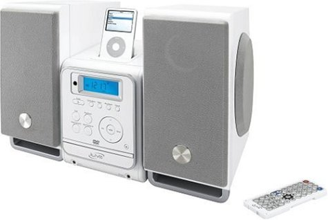 Digital Ipod Docking Music System (iLive iHM8816DT Home Music System with DVD/CD, Digital AM/FM Stereo Radio, Weatherband, Remote Control, and Dock for iPod (White))