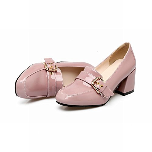 Mee Shoes Damen chunky heels Lackleder slip on Pumps Pink