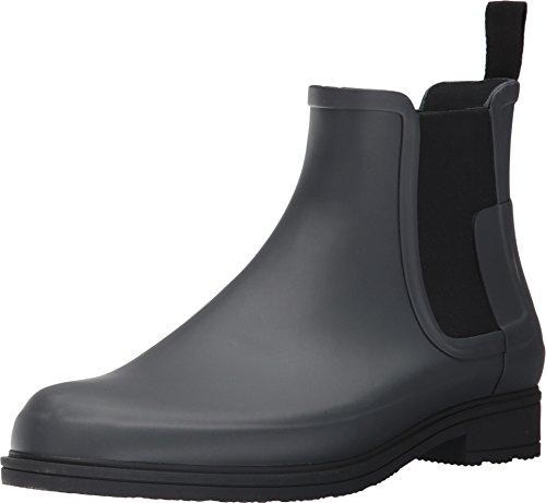 Hunter Men's Original Refined Dark Sole Chelsea Boots Dark Slate/Black 12 M - Dark Slate
