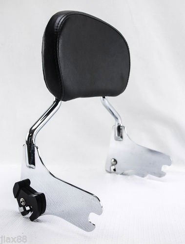 Backrest Set (Harley HD Touring Electra Glide FLHT Detachable Upright Passenger Sissy Bar Backrest)
