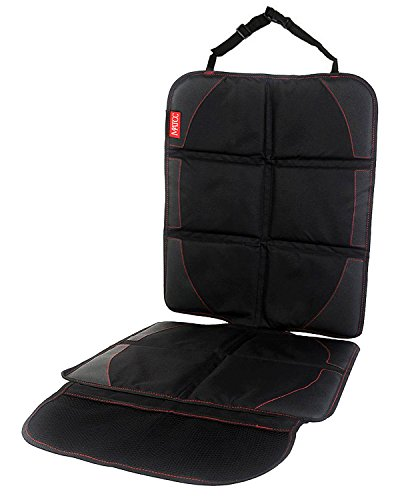 MATCC Car Seat Protector Automotive Vehicle Leather Seats Easy Clean Non Skid Watherproof Baby Child Car Cover Seat Protector Mat Black: