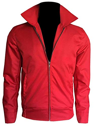 Red Dean James Jacket (James Dean Rebel Without A Cause Red Cordura Jacket Men (XX-Small, Red Cotton Jacket))