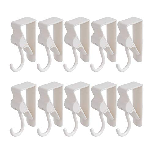 Saim Kitchen Cabinet Drawer Hook Over Door Cupboard Hook Clip Design Firm Hook Made of ABS Material Smooth and Bright Suitable for Bathroom Kitchen Bedroom Offices ()