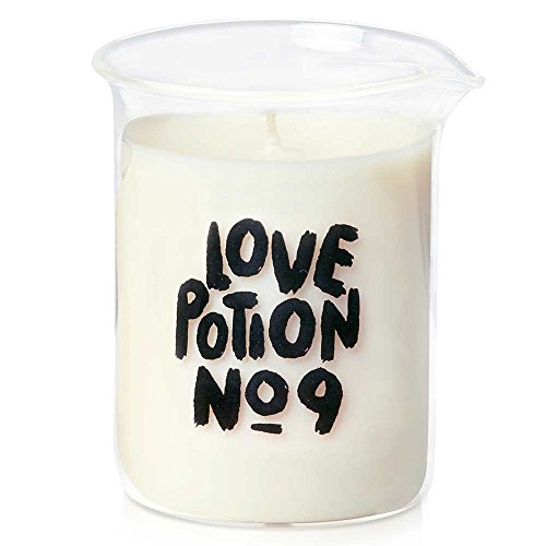 (UNELEFANTE Love Potion No. 9, Scented Soy Wax Candle in Glass Beaker (8 oz - 229 gr). Scent: Soft Citrus and Floral Notes)