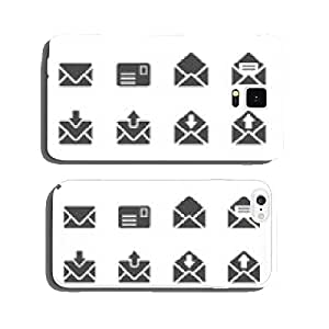 email and letter icon set, vector eps10 cell phone cover case iPhone6 Plus