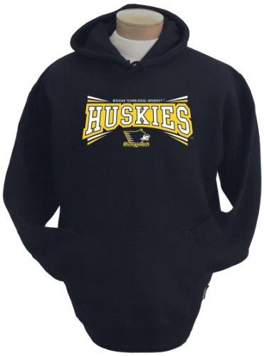 NCAA Michigan Tech Huskies Men's Condor Hooded Sweatshirt (Black, Large) Black Ncaa Hooded Sweatshirt
