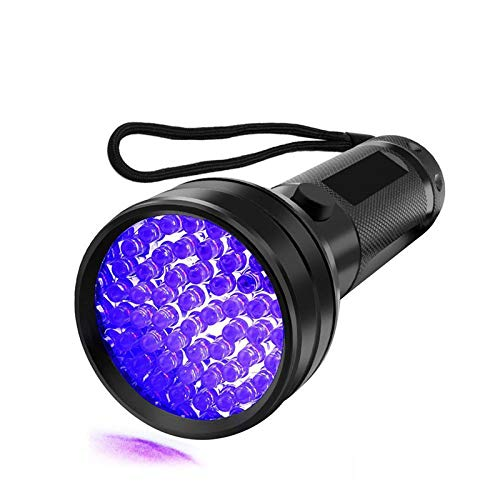 UV Flashlight Black Light, Edbella 51 LED 395 nM Ultraviolet Blacklight Detector for Dry Dog Urine, Pet Stains and Bed Bug]()