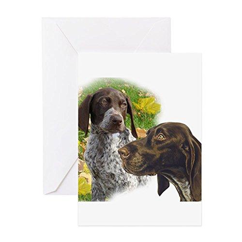 CafePress German Shorthair Hunters Greeting Card, Note Card, Birthday Card, Blank Inside - Hunting Shorthair German