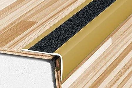 Anti-Rutsch silber A44 eloxiert Winkelprofil Alu 1 St/ück 1800x41x26mm