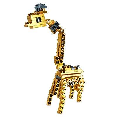 Metomics Creative Building Block Pocket - Wild Animals Series 001 Giraffe 63 pcs Pack (Gold): Toys & Games