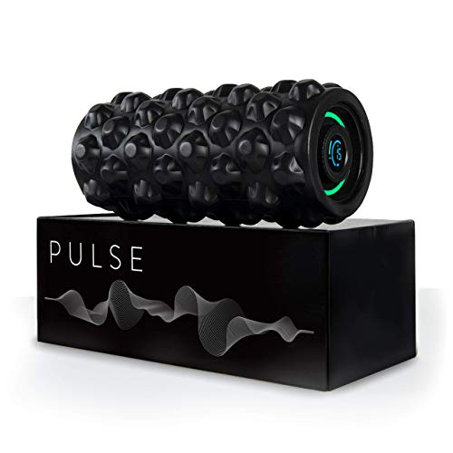 CubeFit Pulse Vibrating Foam Roller | 8 Speed Rechargeable Vibrating Foam Roller | Vibrating Roller | Foam Roller Vibration | Massage Roller for Muscles | Back Roller Massager