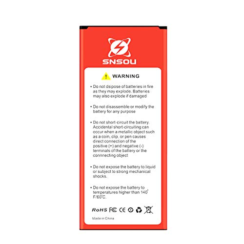 Galaxy Note 4 Battery, SNSOU 3600mAh Li-ion Replacement Battery for Samsung Galaxy Note 4 (N910, N910U LTE, N910A, N910V, N910T, N910P, N910R) Samsung Note 4 Battery [18 Month Warranty]