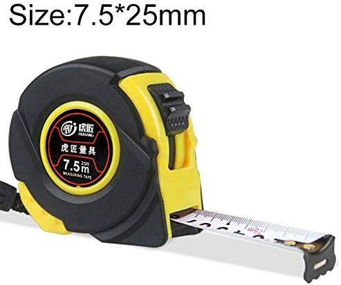 LIJIAN 長さ:7.5メートル幅:25ミリメートル、Hujiang 12 PCS耐摩耗カバー引き込み式定規測定テープポータブルプル定規ミニスカート巻尺