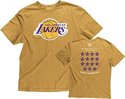 Image Unavailable. Image not available for. Color  Los Angeles Lakers  Champions Adidas Premium Slim Fit T Shirt ... 07564a7f2