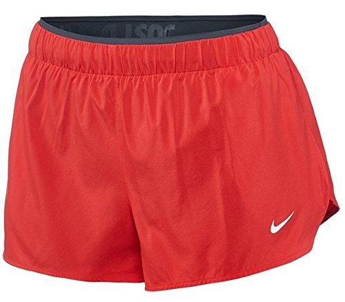 Nike Women's Team Full Flex 2-in-1 2.0 Red Black Shorts 728198 656 Size L