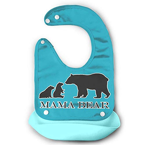 Price comparison product image Mama Bear Babies Pocket Bib Meal Time Silicone, Waterproof Soft And Absorbent