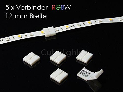 Schnellverbinder Steckverbinder Clips für RGBW 5-polig LED SMD 12mm breit Strip