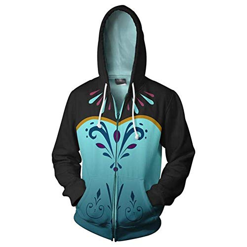 Mikucos Frozen Coat Hooded Hoodie Sweater Costume Cosplay