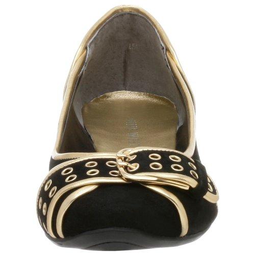 NINE WEST - Bailarina Zapatos De Tacón Para Mujer NWALYN BLACK GOLD Tacón: 1.5 cm