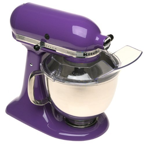 KitchenAid KSM150PSGP Artisan Series 5-Qt. Stand Mixer with Pouring Shield - Grape - smallkitchenideas.us
