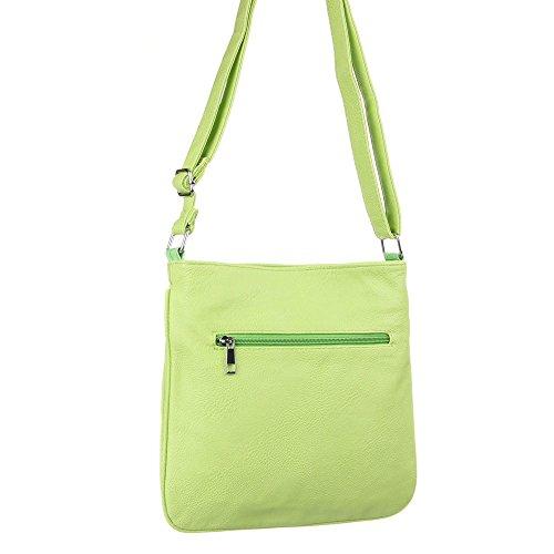 Mujer funda, Kleine hombro bolso, piel sintética, TA de H1009 verde