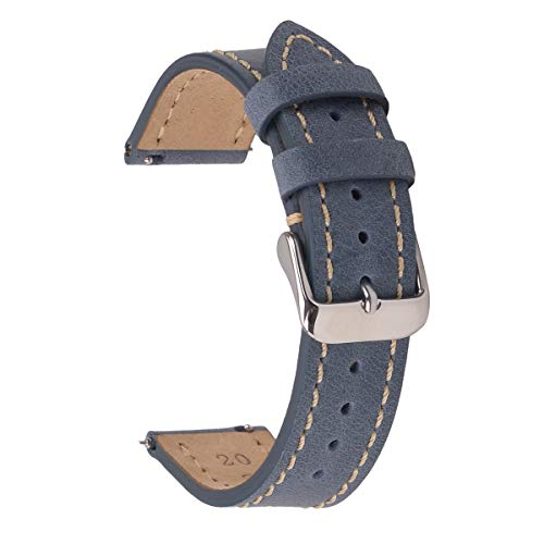 18mm Quick Change Watch Bands,EACHE Vintage Easy Install Watch Straps for Men & Women Blue ()