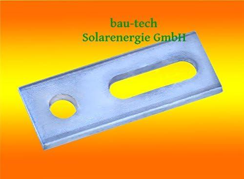 bau-tech Solarenergie 10 Stück Adapterblech/Adapterplatte M10 Edelstahl A2 für Stockschrauben M10 GmbH