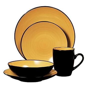 Thomson Pottery Kata 16 PC Dinnerware Set Service For 4  sc 1 st  Amazon.com & Amazon.com | Thomson Pottery Kata 16 PC Dinnerware Set Service For 4 ...