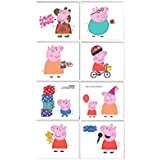 Peppa Pig Children s Temporary Tattoos Gift Pack, 16 Pieces, Made from Paper, Birthday, 2 x 1 3/4 Inch by Amscan